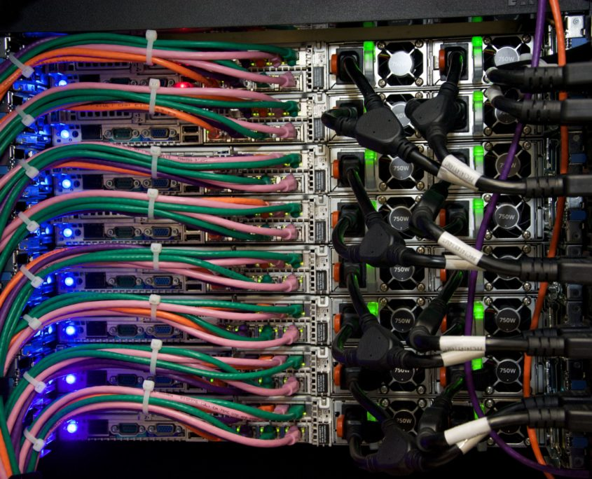 Networking Rack Datacenter Wiring