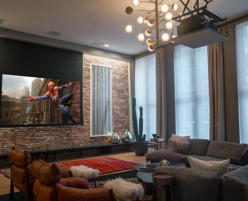 Tribeca Loft Media Room 2